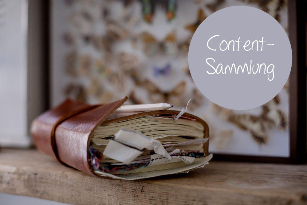 In der ersten Phase der Content-Planung werden erstmal alle möglichen Inhalte gesammelt.