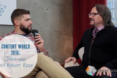 Robert Rose auf der Content World 2015 - Interview I www.babak-zand.de