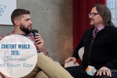 Robert Rose auf der Content World 2015 - Interview I www.babak-zand.de