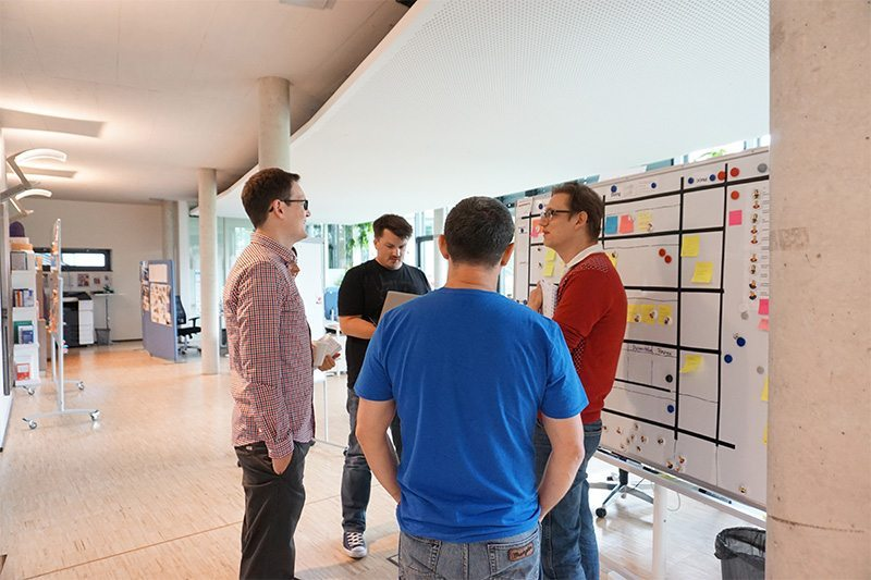 Agile Marketing: Das Daily-Stand-Up, eine Scrum-Zeremonie, bei coliquio.